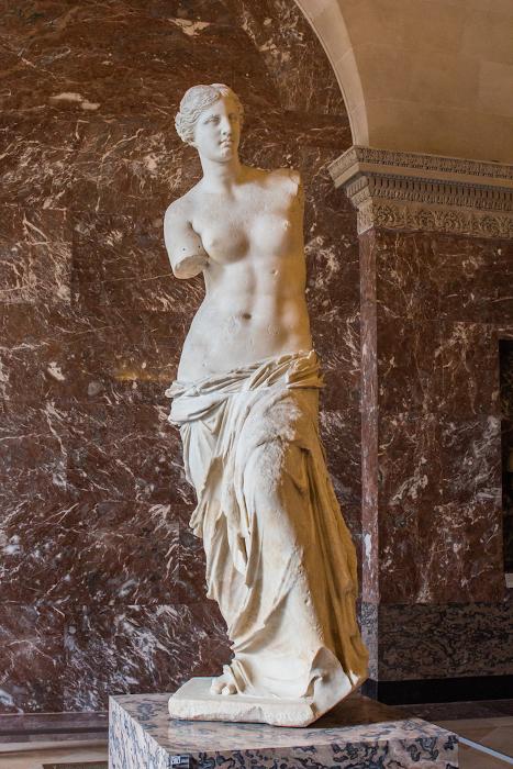 Vênus de Milos (IIa.C.), obra grega descrita por Francisca Júlia. [1]