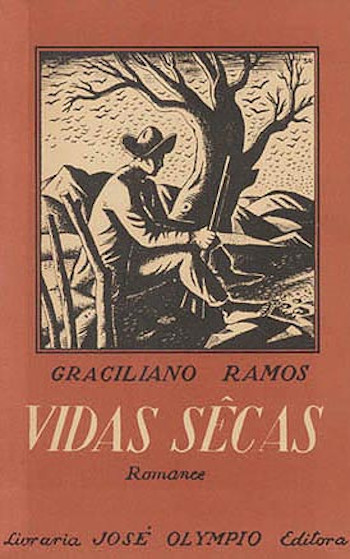 Primeira capa de Vidas secas, clássico do regionalismo brasileiro.