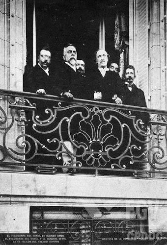 Campos Sales (segundo da esquerda para a direita) foi o idealizador do grande acordo político da Primeira República: a Política dos Governadores.[1]