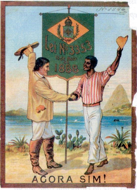 Cartaz do acervo do Arquivo Nacional do Brasil pelo fim da escravidão do Brasil.