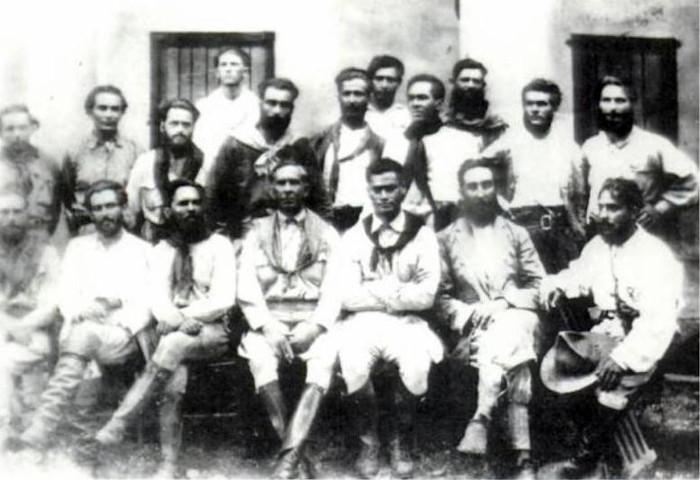 Comando da Coluna Prestes, provavelmente em 1925.