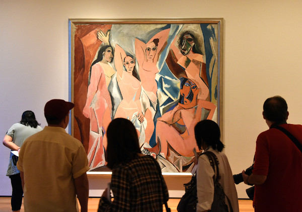 """""""Les demoiselles d'Avignon"""", em exposição no Museu de Arte Moderna de Nova Iorque. [1]"""