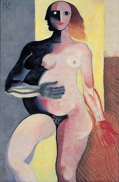 """""""Figura"""" (1927), pintura cubista de Ismael Nery."""