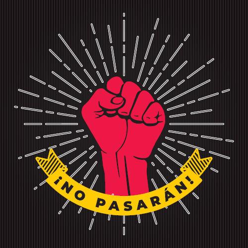 """""""No Pasarán!"""" (ou Não Passarão!, no português) é o lema usado pelos antifascistas espanhóis durante a Guerra Civil Espanhola."""
