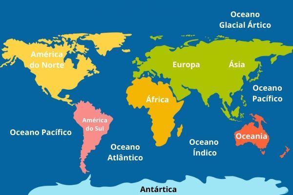 Localidade dos oceanos.