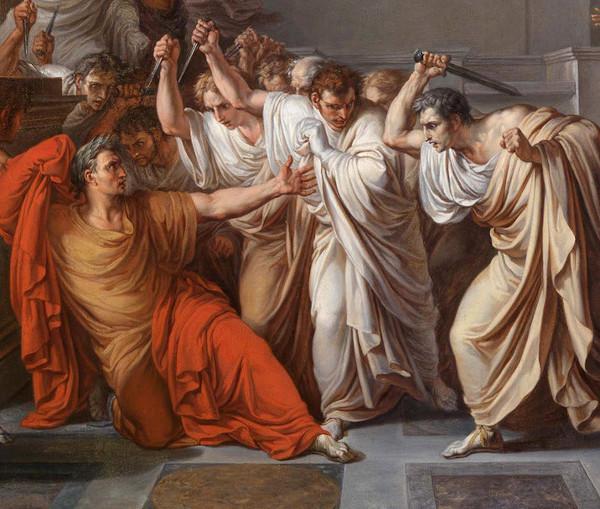 Temendo que Júlio César fosse aclamado rei de Roma, os senadores assassinaram-no. Sua morte foi determinante para os destinos de Roma.
