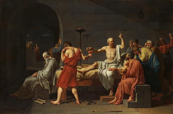 A morte de Sócrates ocorreu pela insatisfação de políticos atenienses com os efeitos de sua maiêutica.