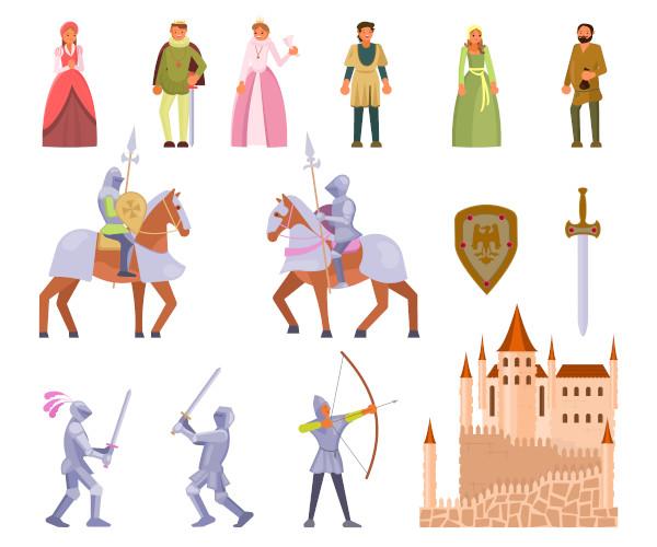 """A sociedade tradicional da Idade Média é ilustrada em filmes como """"O sétimo selo"""" (1957), """"Joana D'Arc"""" (1999) e """"O nome da rosa"""" (1986)."""