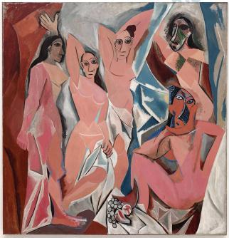 """PICASSO, P. """"Les desmoiselles d'Avignon"""". Óleo sobre tela."""