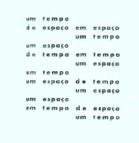 """Poema """"Tempo e Espaço"""", de 1958."""