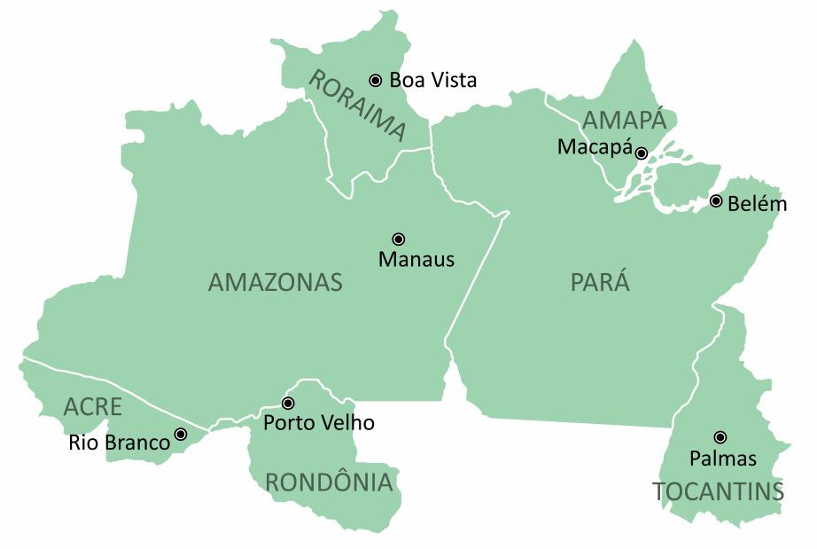 Região Norte do Brasil – estados e capitais