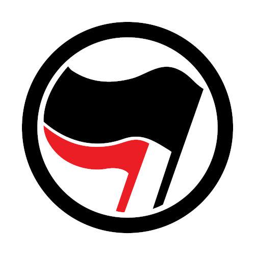 O atual símbolo antifascista é uma pequena adaptação do símbolo usado pela alemã Antifaschistische Aktion, na década de 1930.