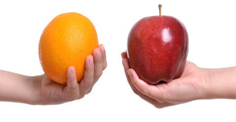 Exemplo de comparação em foto