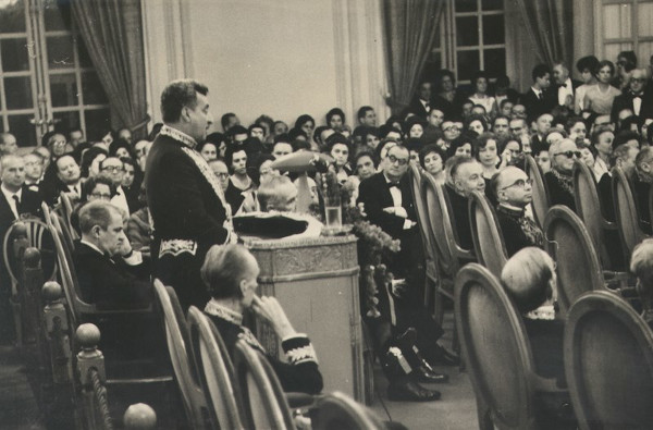 Posse de Jorge Amado na Academia Brasileira de Letras, em 1961.