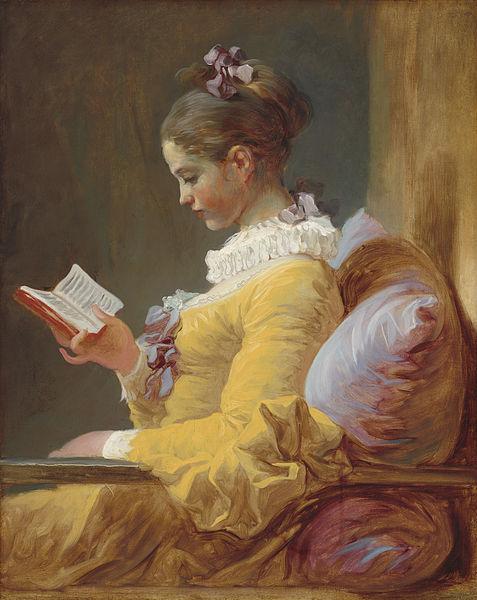 A leitora (1772), de Jean-Honoré Fragonard.