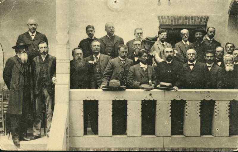 Congresso da Internacional Socialista em 1904. A teoria marxista foi fundamental para a organização política do operariado.