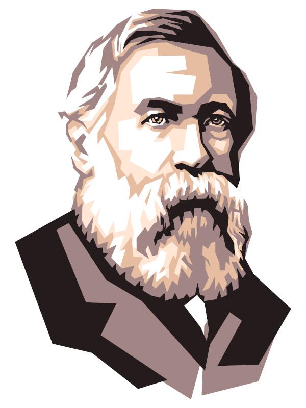 Friedrich Engels, principal colaborador de Marx, em 1836.