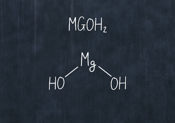 Representação molecular estrutural do Hidróxido de Magnésio