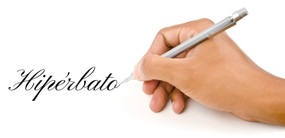 O hipérbato é uma figura de sintaxe que modifica a disposição dos termos em um enunciado.
