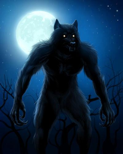 A transformação de um ser humano em lobo é conhecida como licantropia.