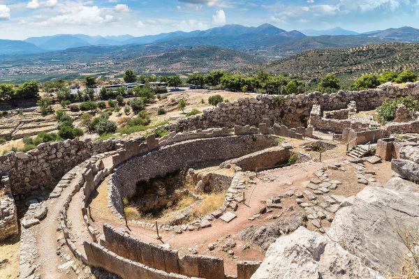 A cidade de Micenas foi uma das maiores e mais ricas cidades dos micênicos.
