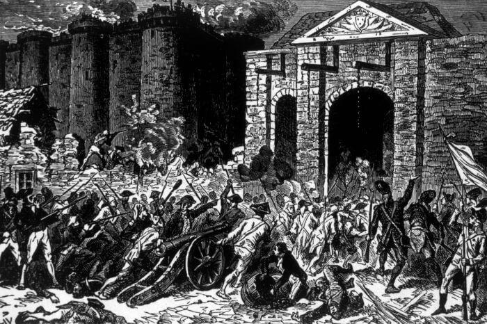 A Revolução Francesa teve como grande marco a Queda da Bastilha, que aconteceu no dia 14 de julho de 1789.