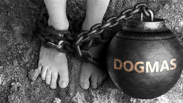 Os dogmas podem ser grilhões que aprisionam o conhecimento e impedem seu avanço.