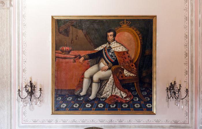Dom João VI, rei de Portugal a partir de 1816 e pai de D. Pedro.[1]