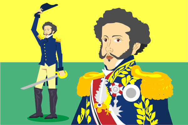 Dom Pedro I encabeçou a independência do Brasil e foi imperador de nosso país de 1822 a 1831.
