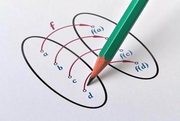 A função é uma relação entre dois conjuntos.