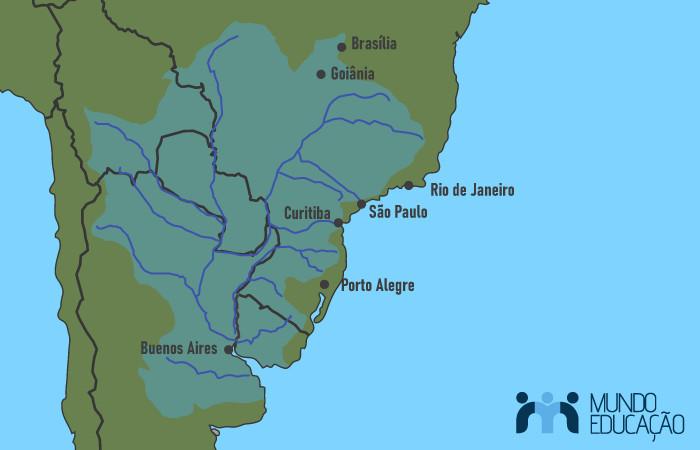 Localização da Bacia Hidrográfica Platina.