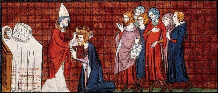 Carlos Magno foi imperador do Império Carolíngio e aproximou-se da Igreja Católica.