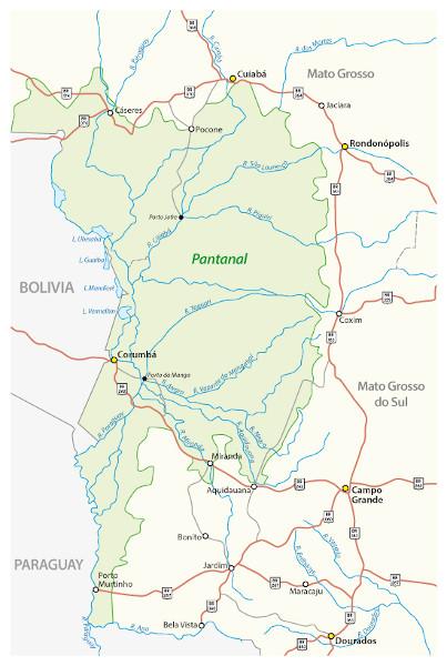 Localização do Pantanal brasileiro