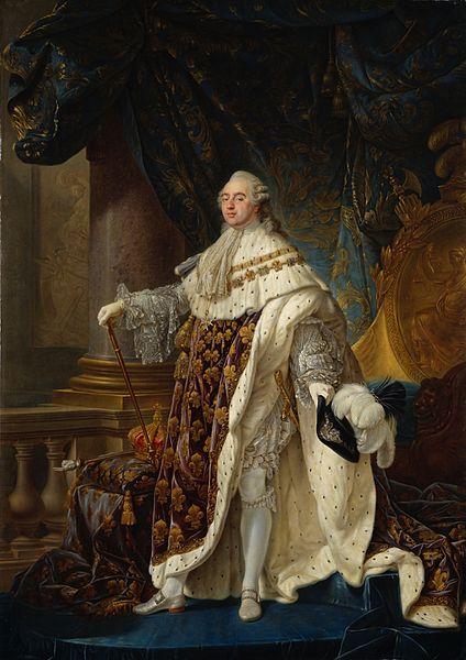 Rei Luís XVI governou a França até 1789, quando começou a Revolução Francesa.