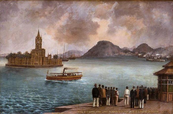 Revolta da Armada, ocorrida no Rio de Janeiro, em 1893.