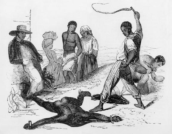 'IMAGEM FORTE' Um dos artigos da Lei do Ventre Livre proibia os senhores de escravos de cometer castigos excessivos.[1]