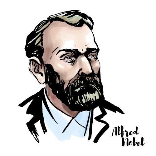 Alfred Nobel foi um cientista, inventor e empresário sueco nascido em 1833.