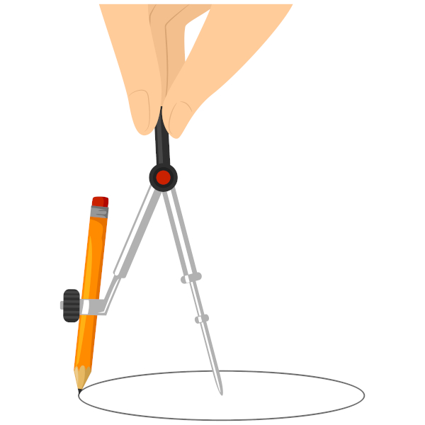 A circunferência é o conjunto de pontos que estão a uma mesma distância do centro.