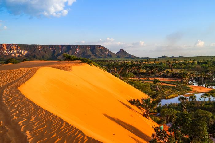 As dunas são protagonistas na paisagem do Jalapão.