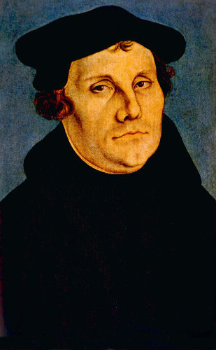 Martinho Lutero não concordava com a cobrança de indulgências e era defensor da ideia de que a salvação é obtida pela fé.