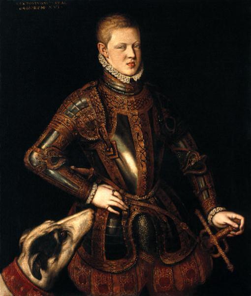 Retrato do rei D. Sebastião, obra de Cristóvão de Morais.