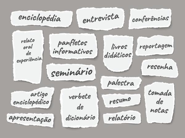 Diversos gêneros textuais possuem o tipo expositivo na sua composição.