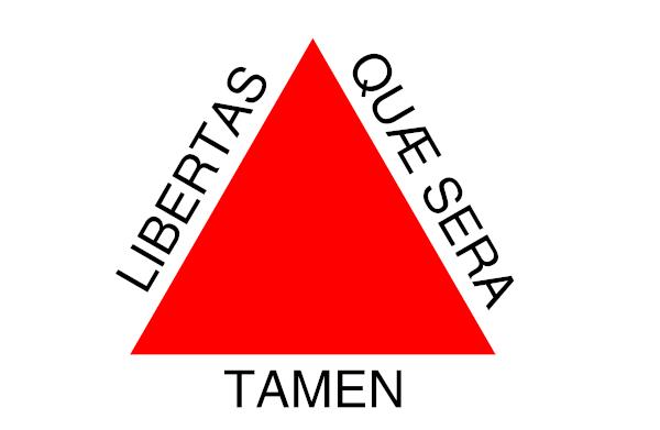 Bandeira de Minas Gerais, que tem expresso o lema da Inconfidência Mineira.
