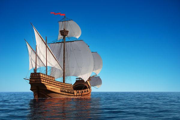 A caravela foi uma das grandes inovações que contribuíram para o sucesso das Grandes Navegações.