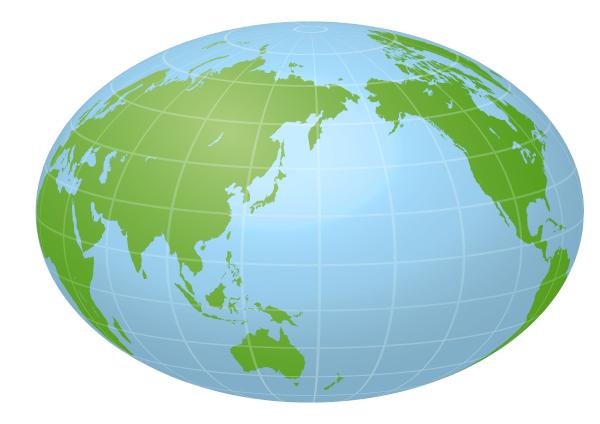 O Oceano Pacífico localiza-se entre a costa oeste da América, Ásia e Oceania.