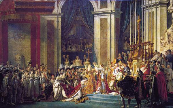 Coroação de Napoleão Bonaparte por Jacques-Louis David.[1]