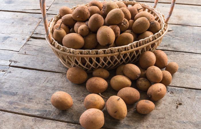 O sapoti é um fruto ingerido (normalmente) in natura e que apresenta várias vitaminas e sais minerais.