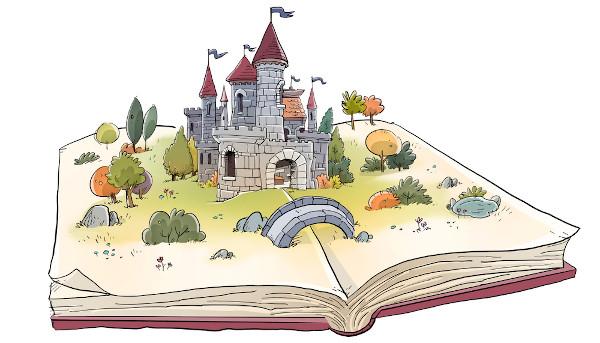 O conto fantástico explora a criação de mundos e seres imaginários.