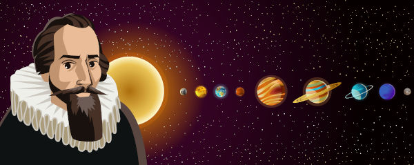 Johannes Kepler criou três leis que explicam a forma como os planetas movem-se ao redor do Sol.