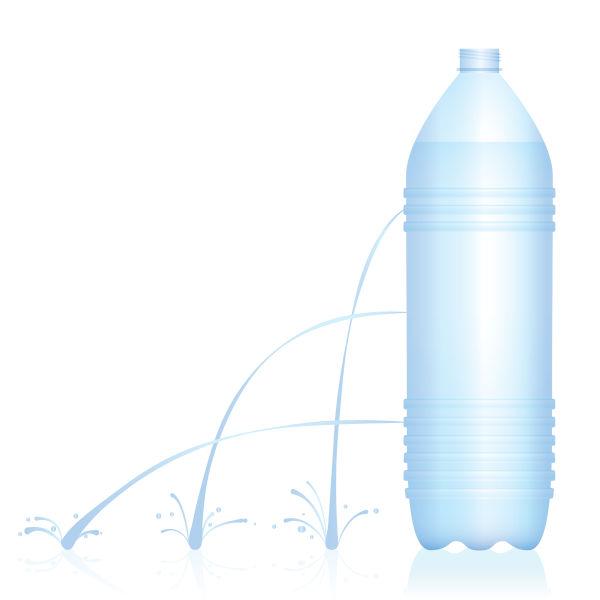 Quanto maior é a profundidade do fluido, maior é a pressão, por isso a água é lançada mais longe.